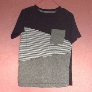 Boy Black, White and Gray Short sleeve T-Shirt S 5
